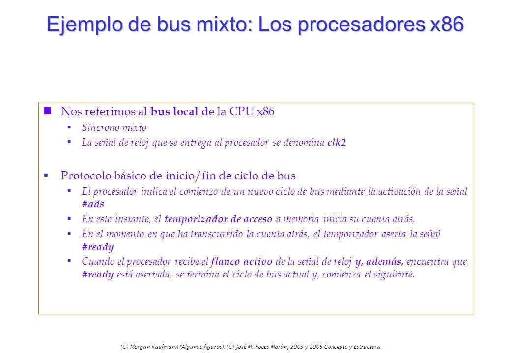 (C) Morgan-Kaufmann (Algunas figuras). (C) José M. Foces Morán, 2003 y 2005 Concepto y estructura. Ejemplo de bus mixto: Los procesadores x86 nNos ref