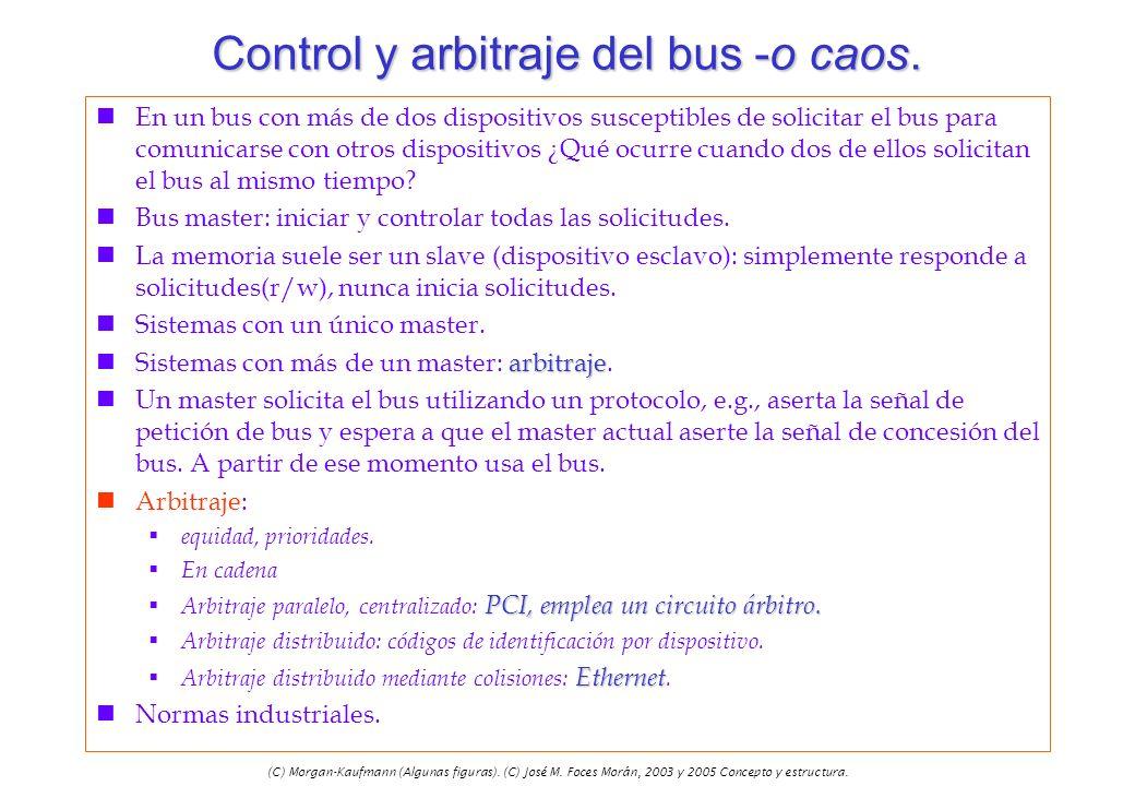 (C) Morgan-Kaufmann (Algunas figuras). (C) José M. Foces Morán, 2003 y 2005 Concepto y estructura. Control y arbitraje del bus -o caos. nEn un bus con