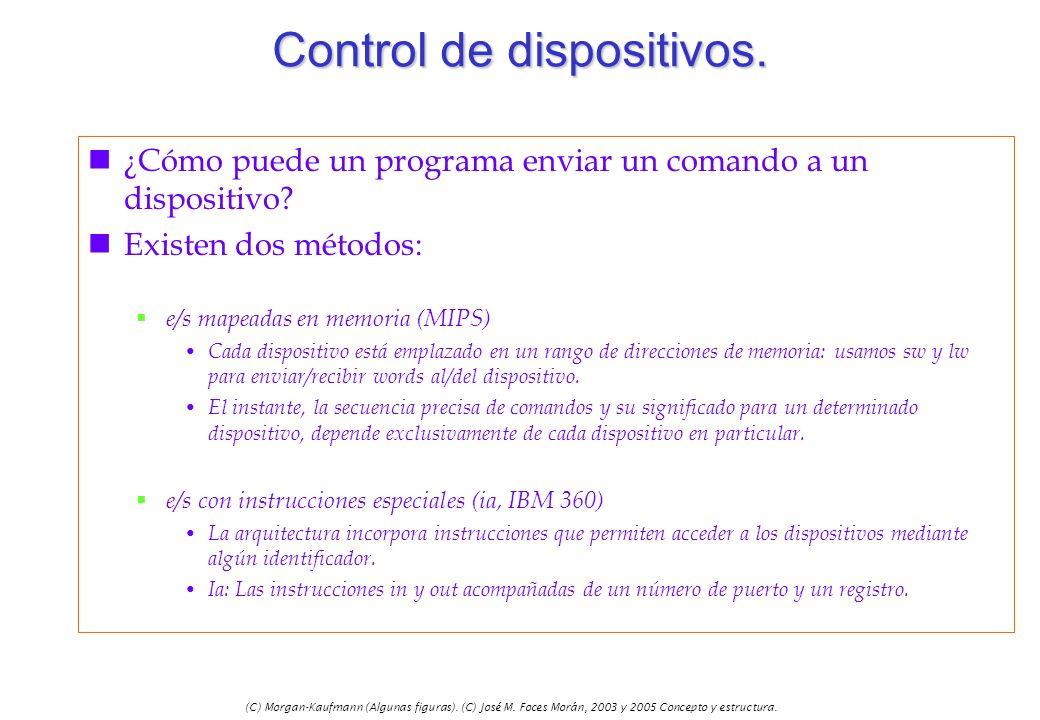(C) Morgan-Kaufmann (Algunas figuras). (C) José M. Foces Morán, 2003 y 2005 Concepto y estructura. Control de dispositivos. n¿Cómo puede un programa e