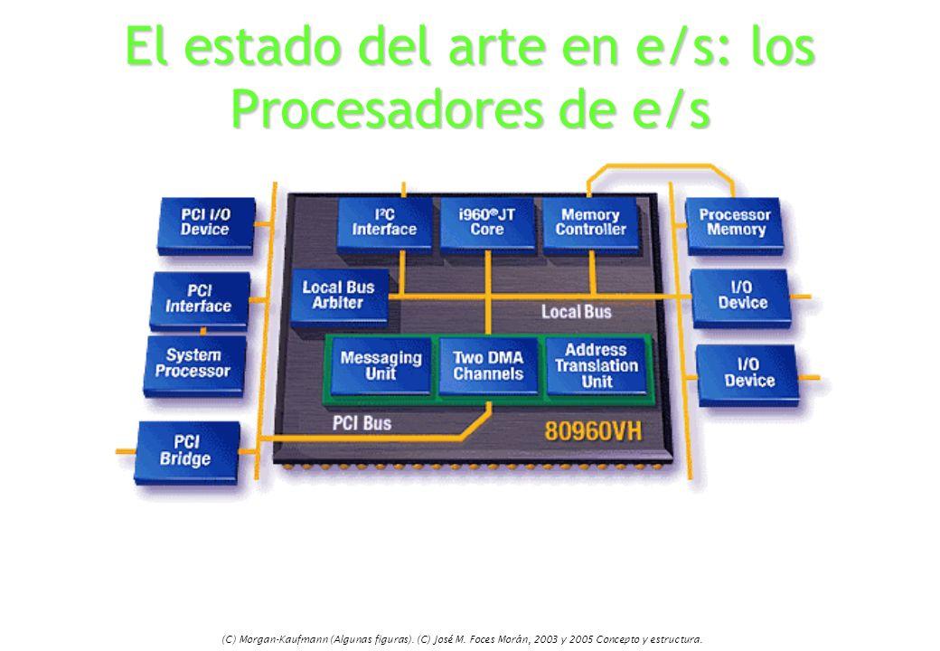 (C) Morgan-Kaufmann (Algunas figuras). (C) José M. Foces Morán, 2003 y 2005 Concepto y estructura. El estado del arte en e/s: los Procesadores de e/s