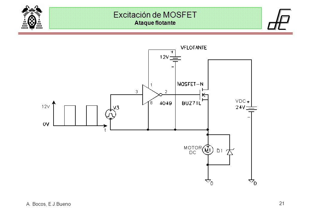 A. Bocos, E.J.Bueno 21 Excitación de MOSFET Ataque flotante