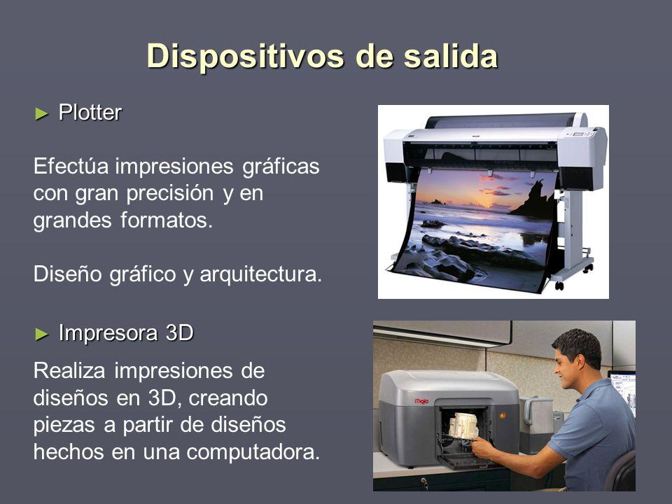 Plotter Plotter Efectúa impresiones gráficas con gran precisión y en grandes formatos. Diseño gráfico y arquitectura. Impresora 3D Impresora 3D Realiz