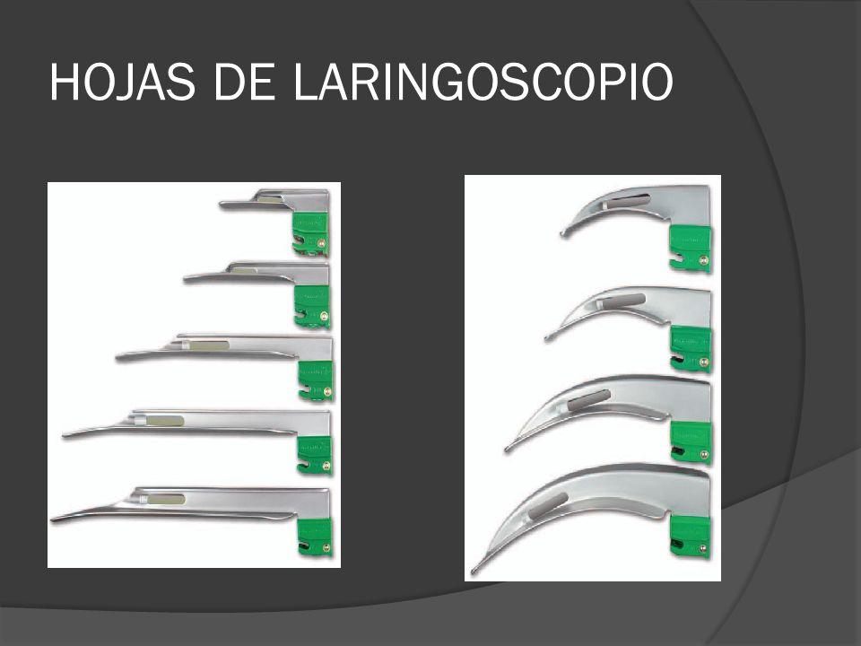 HOJAS DE LARINGOSCOPIO