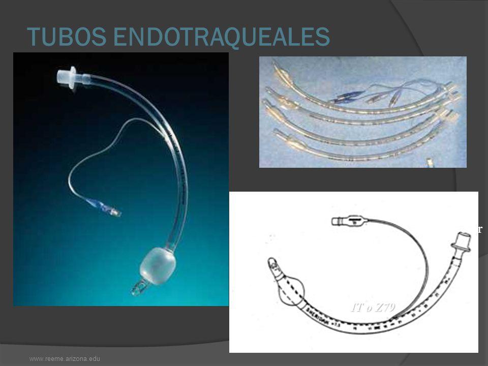 TUBOS ENDOTRAQUEALES www.reeme.arizona.edu CUFF IT o Z79 Conector Válvula