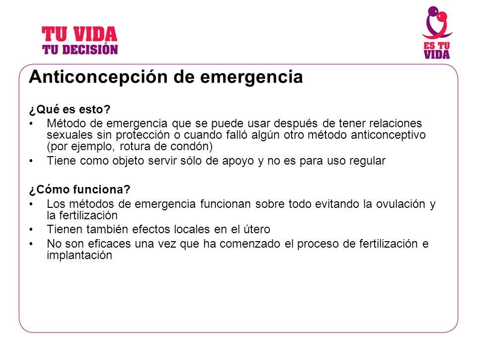 Anticoncepción de emergencia ¿Qué es esto? Método de emergencia que se puede usar después de tener relaciones sexuales sin protección o cuando falló a