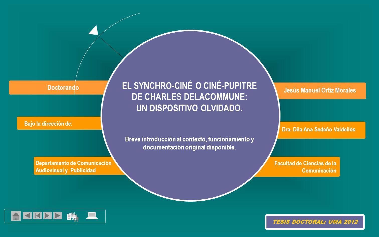 Análisis Funcionamiento del synchro-ciné o ciné-pupitre LAS BANDAS DE ESTUDIO Y LAS BANDAS-PILOTO