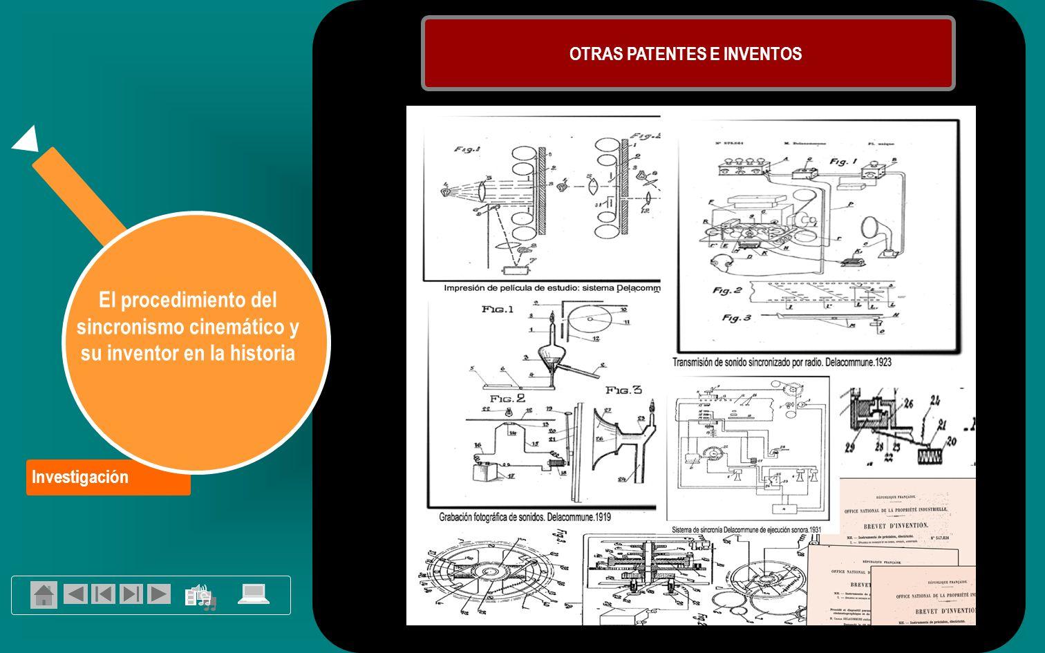Investigación El procedimiento del sincronismo cinemático y su inventor en la historia OTRAS PATENTES E INVENTOS