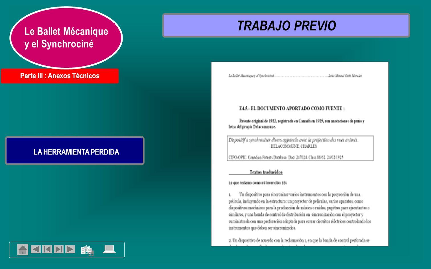 6.- BIBLIOGRAFIA 7-8- 9 ANEXOS ESPECÍFICOS 1.- PLANTEAMIENTO DE LA TESIS 2.- CONTEXTO: EL MOVIMIENTO CINEMÁTICO EUROPEO 3.- ANÁLISIS: FUNCIONAMIENTO DEL SYNCHROCINÉ O CINÉ-PUPITRE 5.- CONCLUSIONES 4.- INVESTIGACIÓN: EL PROCEDIMIENTO DEL SINCRONISMO CINEMÁTICO Y SU INVENTOR EN LA HISTORIA EL SYNCHRO-CINÉ O CINÉ- PUPITRE DE CHARLES DELACOMMUNE: UN DISPOSITIVO OLVIDADO TRABAJO DE TESIS.