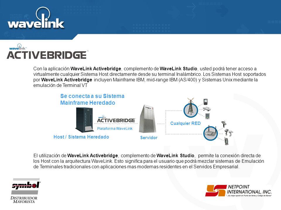 Arquitectura Activebridge de Wavelink Contruido sobre la tecnología ActiveX Disenado para ser Escalable Correccion de Fallas y Monitoreo Integrado Acc