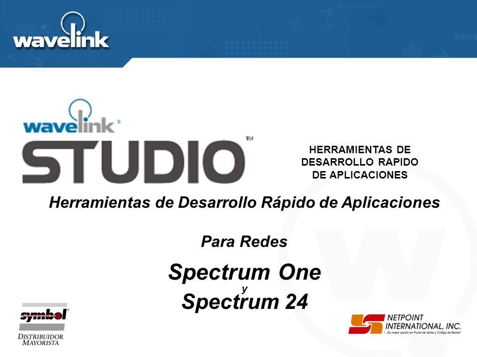 Herramientas de Desarrollo Rápido de Aplicaciones Para Redes Spectrum One y Spectrum 24 HERRAMIENTAS DE DESARROLLO RAPIDO DE APLICACIONES