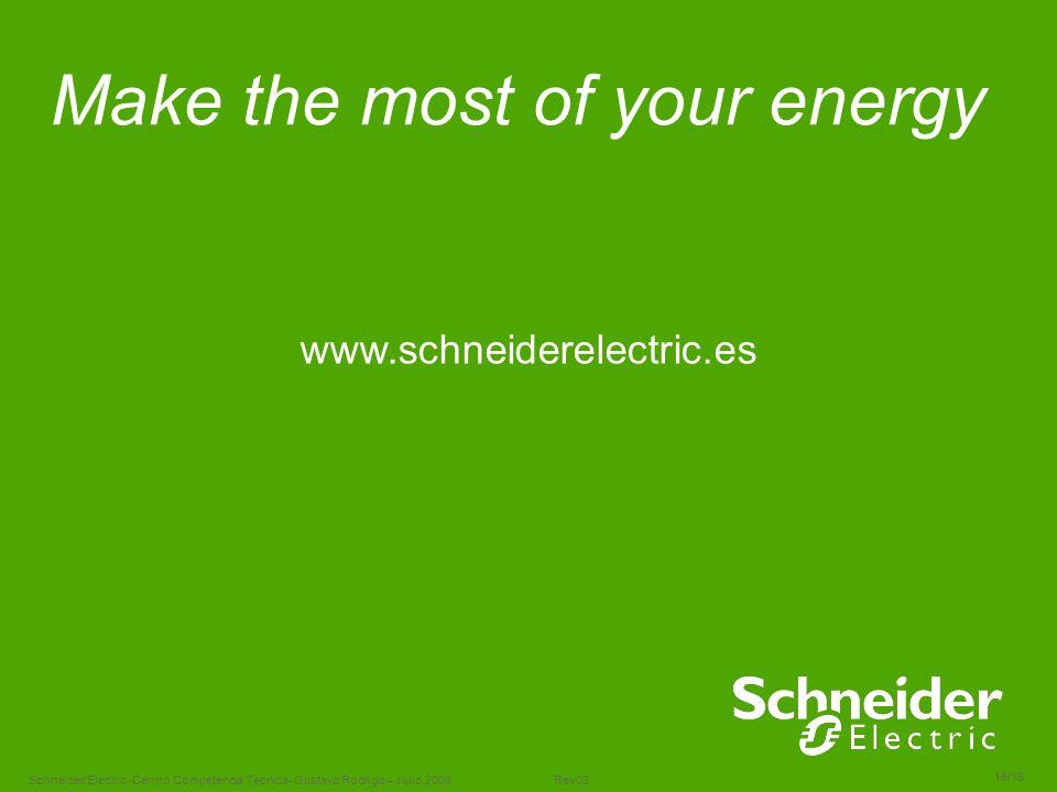 Schneider Electric 16/16 -Centro Competencia Técnica- Gustavo Rodrigo – Julio.2008 Rev03 Make the most of your energy www.schneiderelectric.es