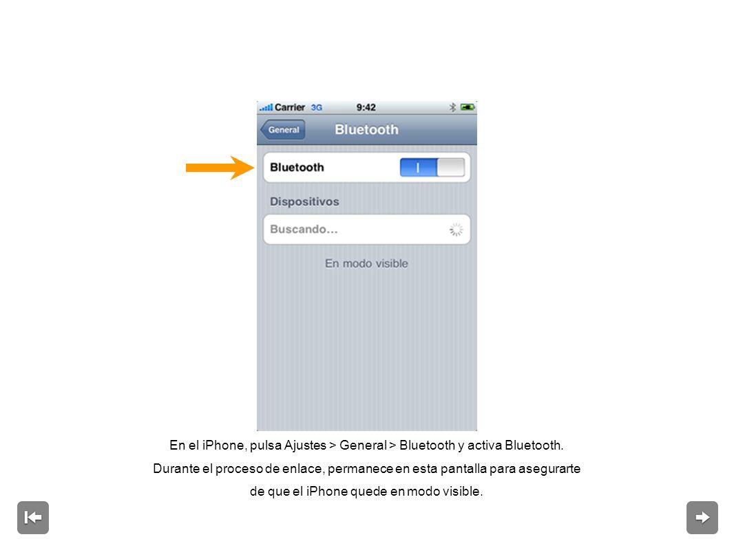 Introduce la clave en el iPhone y pulsa Conectar.