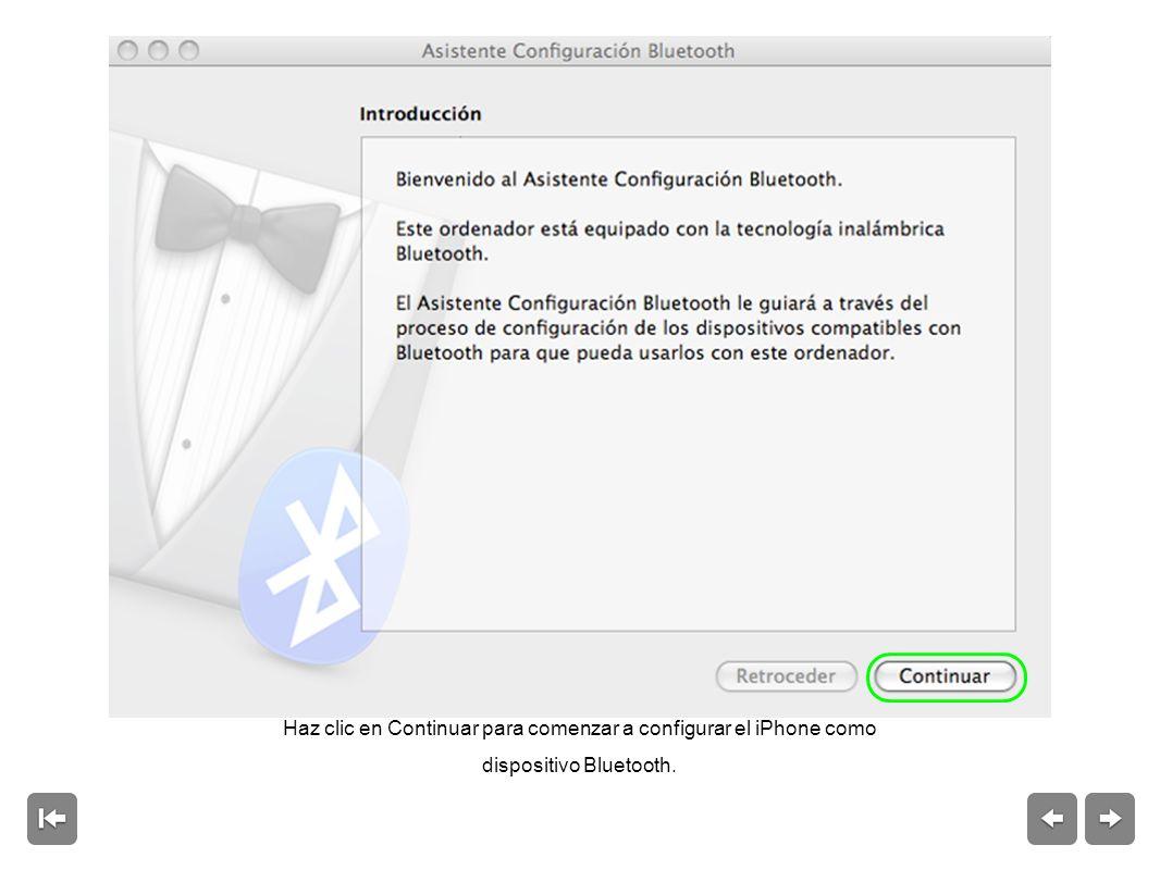 En el iPhone, pulsa Ajustes > General > Bluetooth y activa Bluetooth.