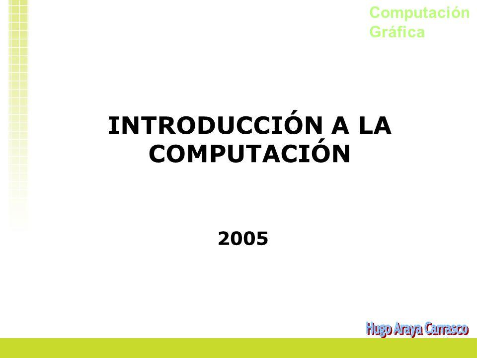 Computación Gráfica INTRODUCCIÓN A LA COMPUTACIÓN 2005
