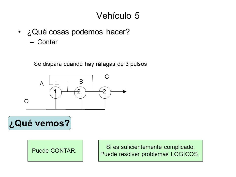 Vehículo 12 Hay un peligro con este tipo de cables: si hay varios estímulos simultáneos, las conexiones se potencian entre sí y se activa todo sin ninguna lógica.