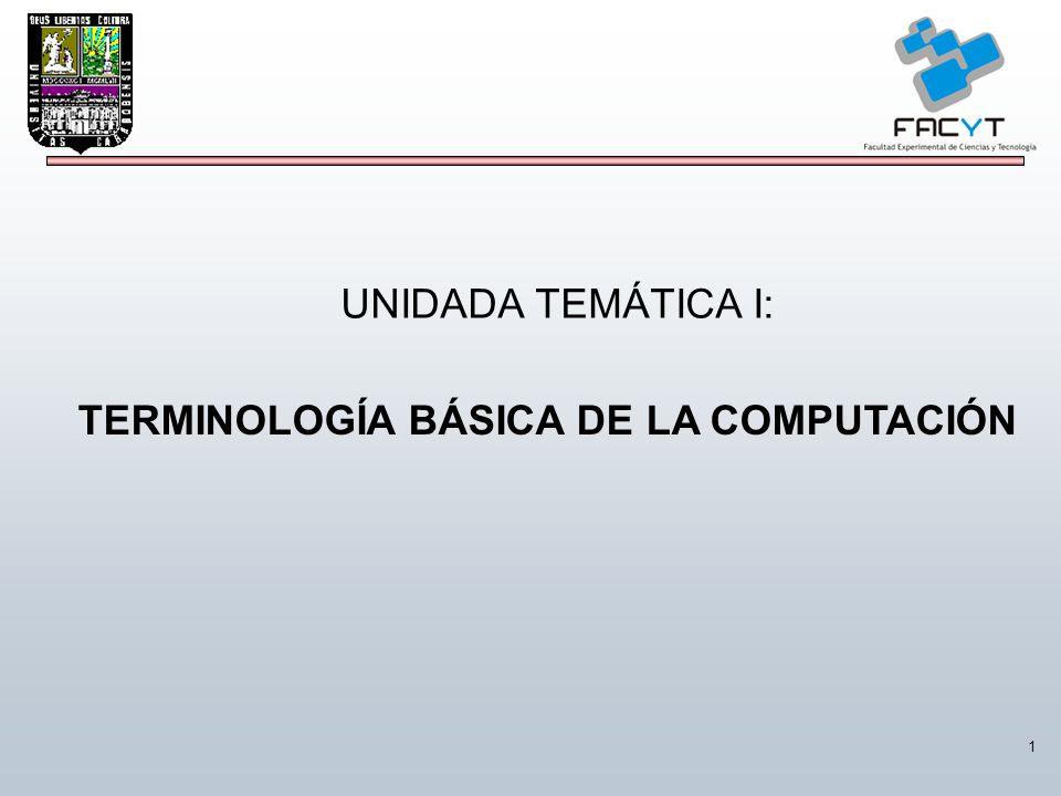 1 TERMINOLOGÍA BÁSICA DE LA COMPUTACIÓN UNIDADA TEMÁTICA I: