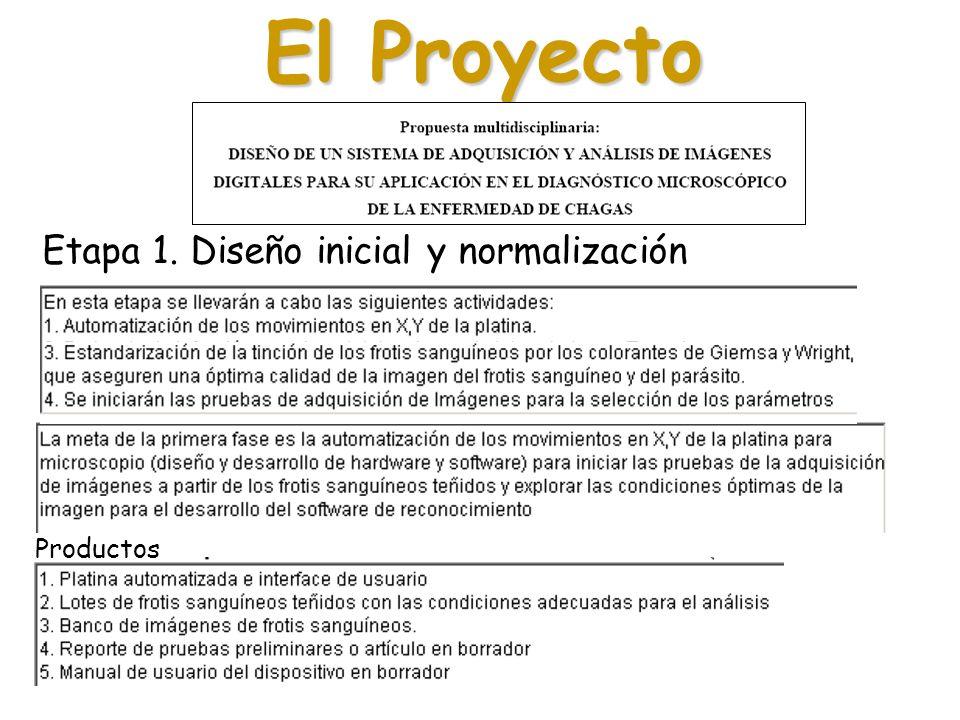 El Proyecto Etapa 1. Diseño inicial y normalización Productos