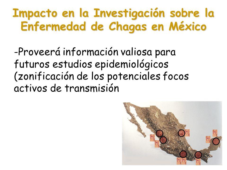 Impacto en la Investigación sobre la Enfermedad de Chagas en México -Proveerá información valiosa para futuros estudios epidemiológicos (zonificación