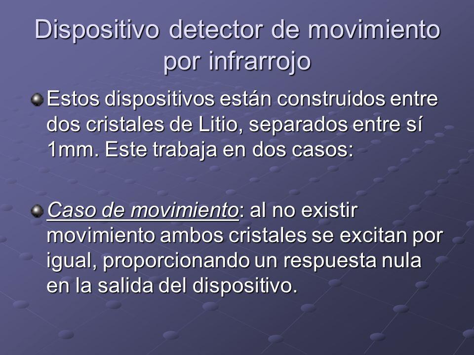 Dispositivo detector de movimiento por infrarrojo Estos dispositivos están construidos entre dos cristales de Litio, separados entre sí 1mm. Este trab