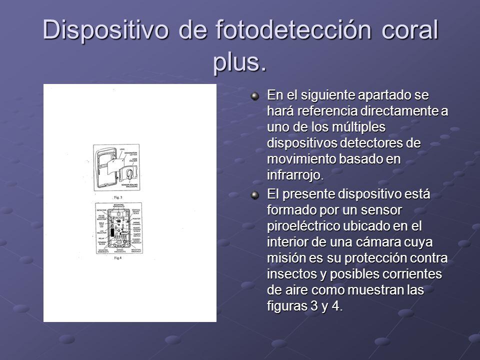 Dispositivo de fotodetección coral plus. En el siguiente apartado se hará referencia directamente a uno de los múltiples dispositivos detectores de mo