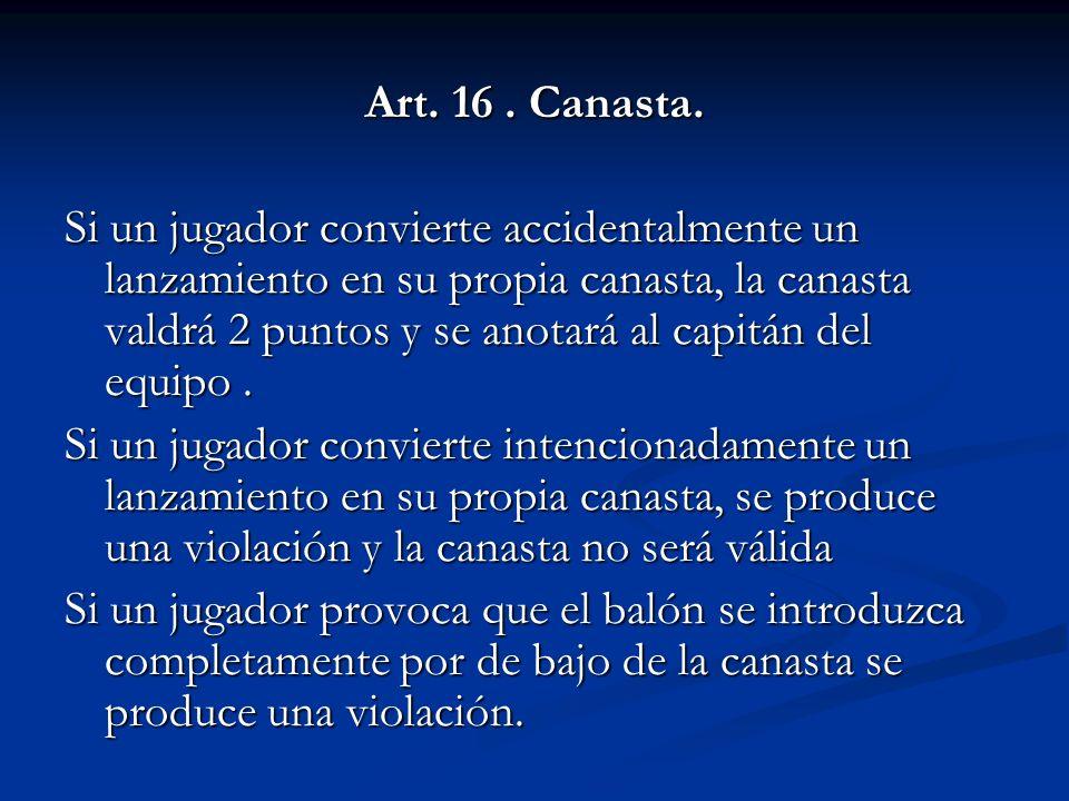 Art.16. Canasta.