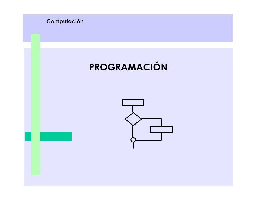 PROGRAMACIÓN Computación