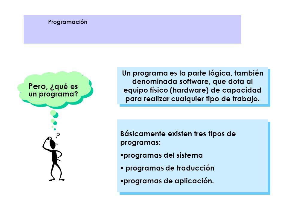 Programas del sistema son los programas necesarios para que el computador tenga capacidad para trabajar.