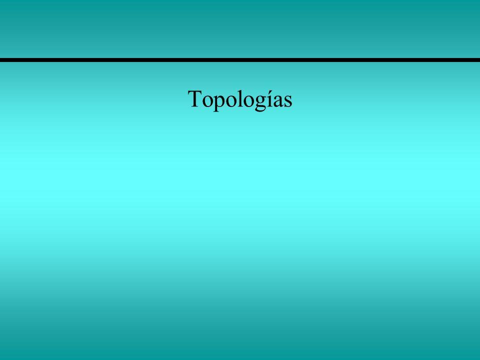 La topología de red La topología de red define la disposición de la red.