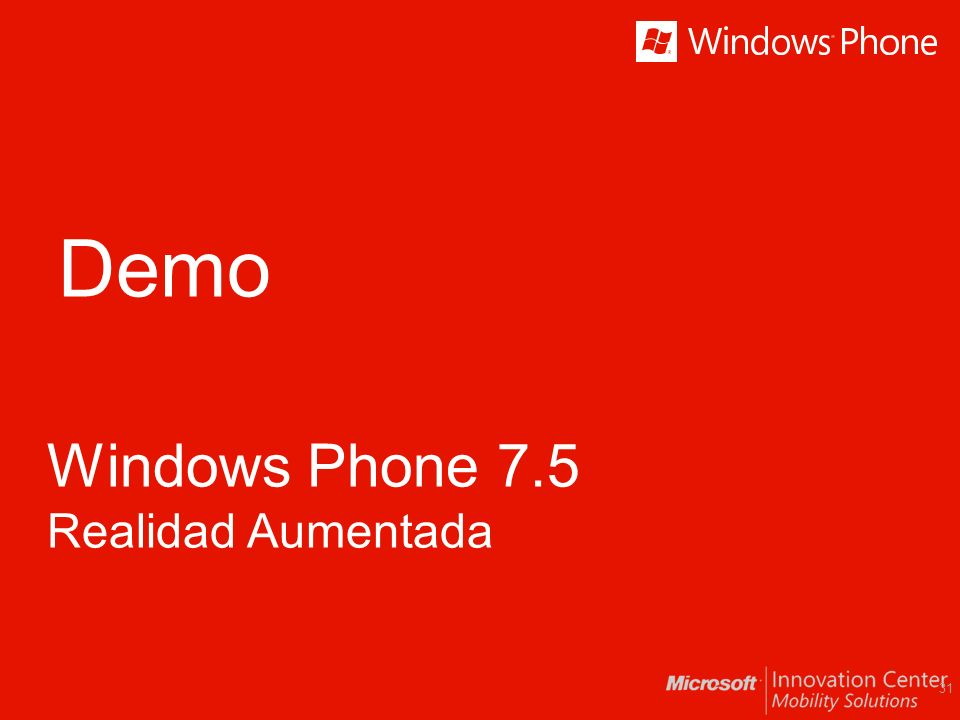 Demo Windows Phone 7.5 Realidad Aumentada 31