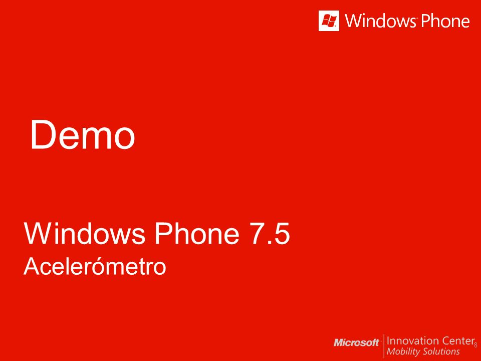 Demo Windows Phone 7.5 Acelerómetro 8