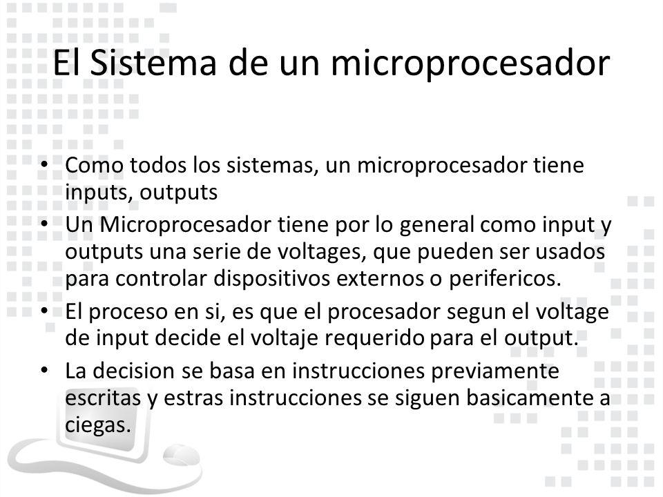 El sistema de un microprocesador