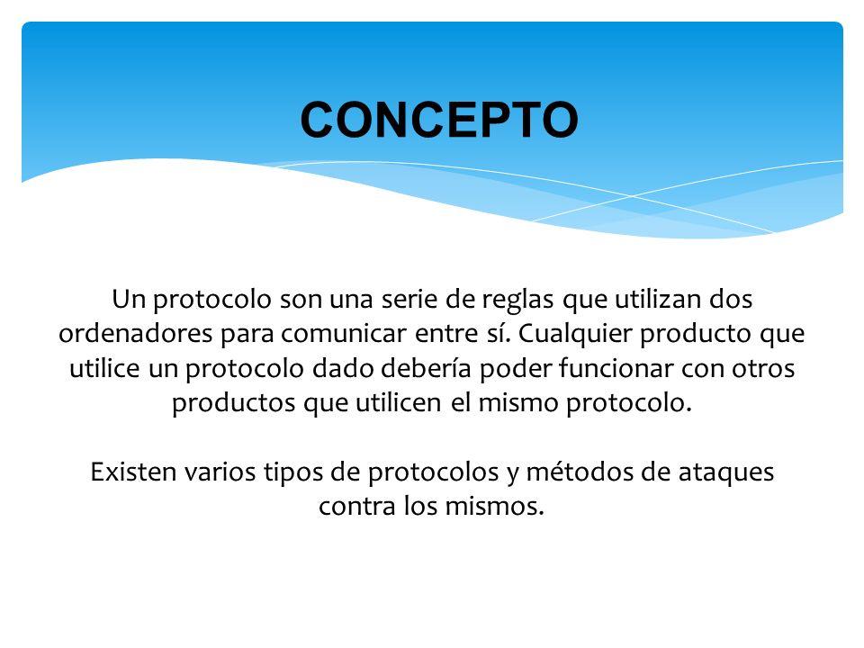 Un protocolo son una serie de reglas que utilizan dos ordenadores para comunicar entre sí.