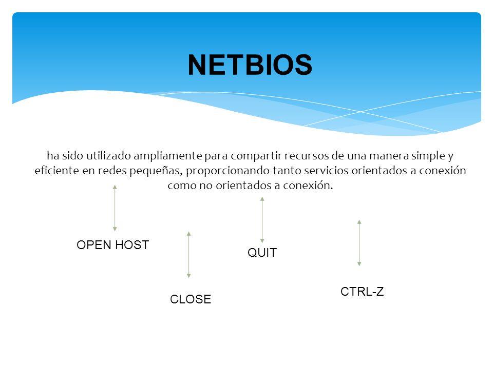 ha sido utilizado ampliamente para compartir recursos de una manera simple y eficiente en redes pequeñas, proporcionando tanto servicios orientados a conexión como no orientados a conexión.