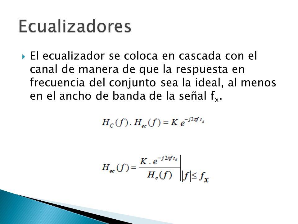 El ecualizador se coloca en cascada con el canal de manera de que la respuesta en frecuencia del conjunto sea la ideal, al menos en el ancho de banda