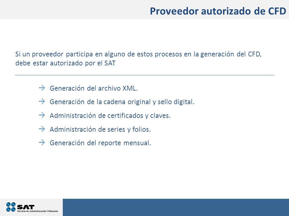Generación del archivo XML. Generación de la cadena original y sello digital. Administración de certificados y claves. Administración de series y foli