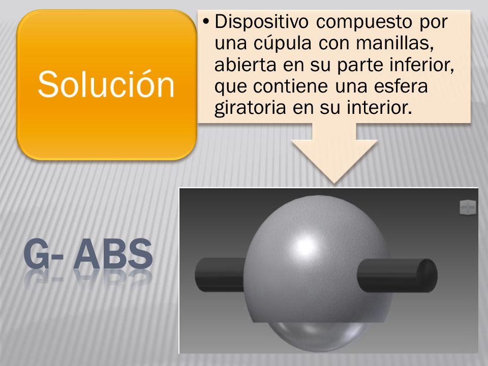 Dispositivo compuesto por una cúpula con manillas, abierta en su parte inferior, que contiene una esfera giratoria en su interior. Solución