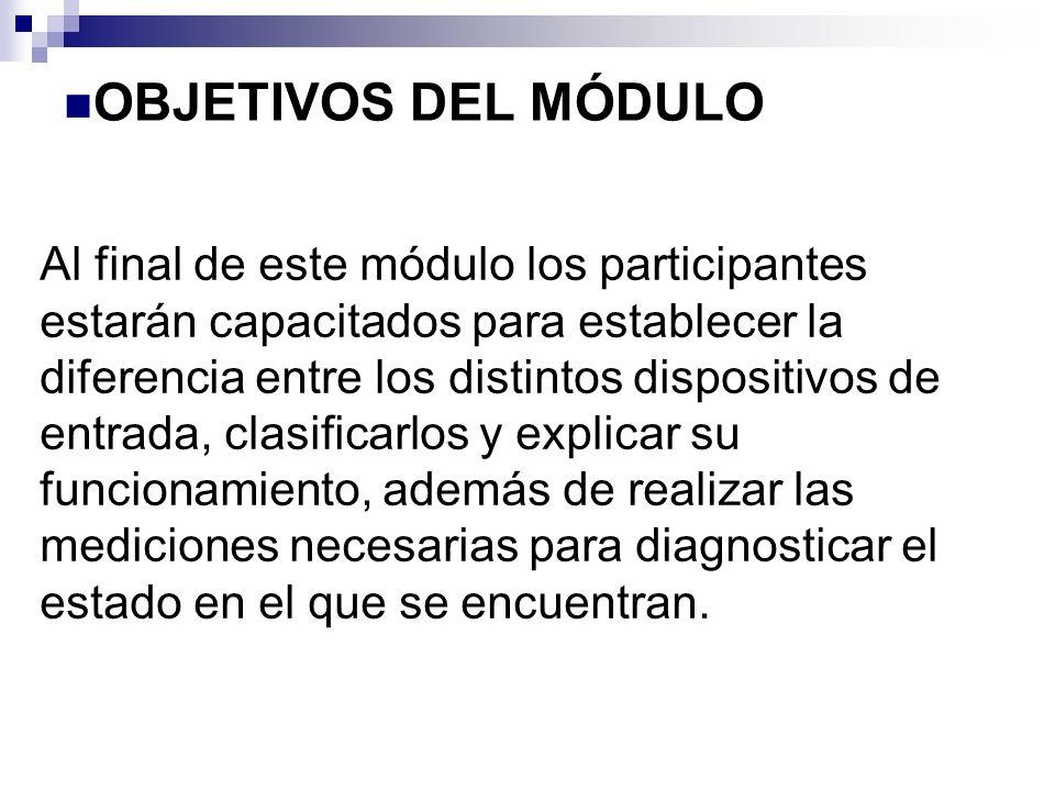 PARAMETRO MONITOREADO SENSORACTIVO O PASIVOMEDIDA CON MULTITESTER VELOCIDAD PICKUPPASIVO (2 CABLES)VOLTS/FREC/OHMS EFECTO HALLACTIVO (3 CABLES)VOLTS/FREC/PWM TEMPERATURA RESISTOR VARIABLEPASIVO (2 CABLES)VOLTS/OHMS RESISTOR VARIABLEACTIVO (3 CABLES)VOLTS/OHMS RESISTOR VARIABLEACTIVO (3 CABLES)VOLTS/FREC/PWM PRESIÓN GALGA DE DEFORMACIÓN Cristal cuarzo ACTIVO (3 CABLES)VOLTS ACTIVO (3 CABLES)VOLTS/FREC/PWM POSICIÓN RESISTOR VARIABLEACTIVO (3 CABLES) VOLTS/FREC/PWM EFECTO HALLACTIVO (3 CABLES) MAGNETORESISTIVOACTIVO (3 CABLES) NIVEL DE COMBUSTIBLE RESISTOR VARIABLEPASIVO (2 CABLES)VOLTS/OHMS ULTRASONICOACTIVO (4 CABLES)VOLTS/FREC/PWM DISPOSITIVOS DE ENTRADA