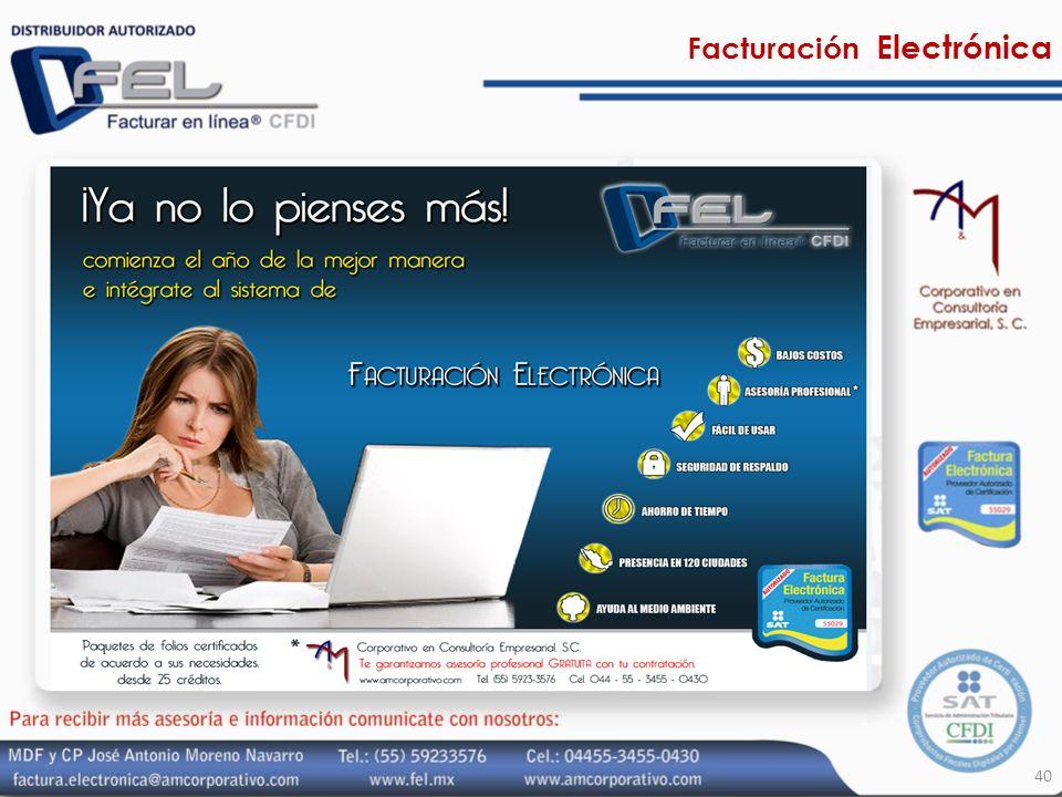 40 Facturación Electrónica