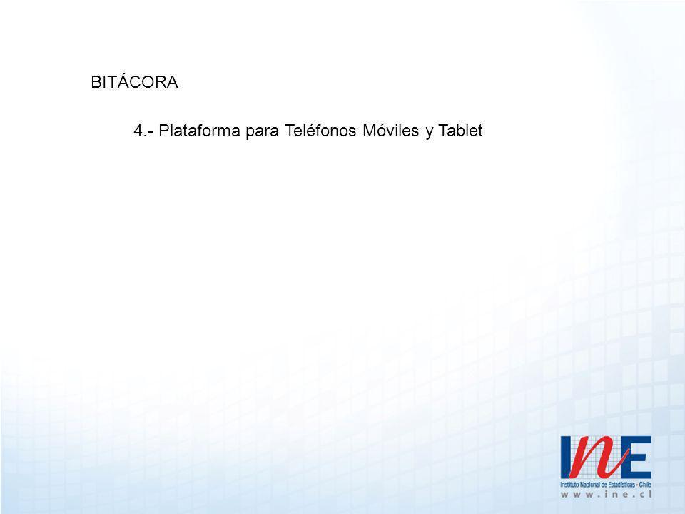 BITÁCORA 4.- Plataforma para Teléfonos Móviles y Tablet