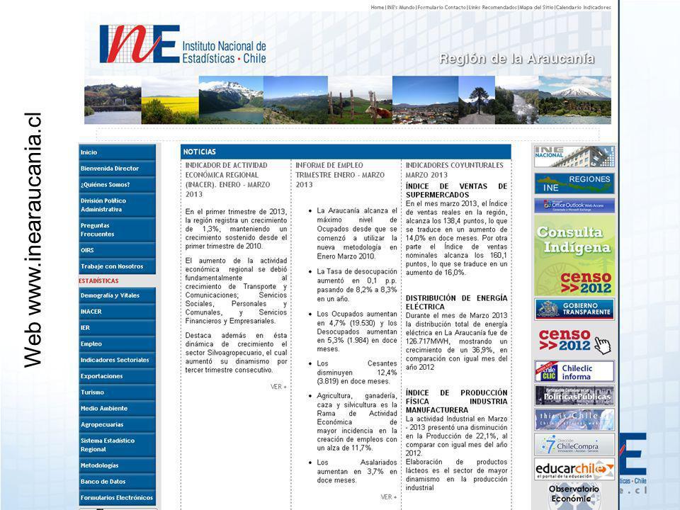 Web www.inearaucania.cl