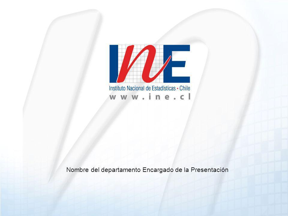 Nombre del departamento Encargado de la Presentación