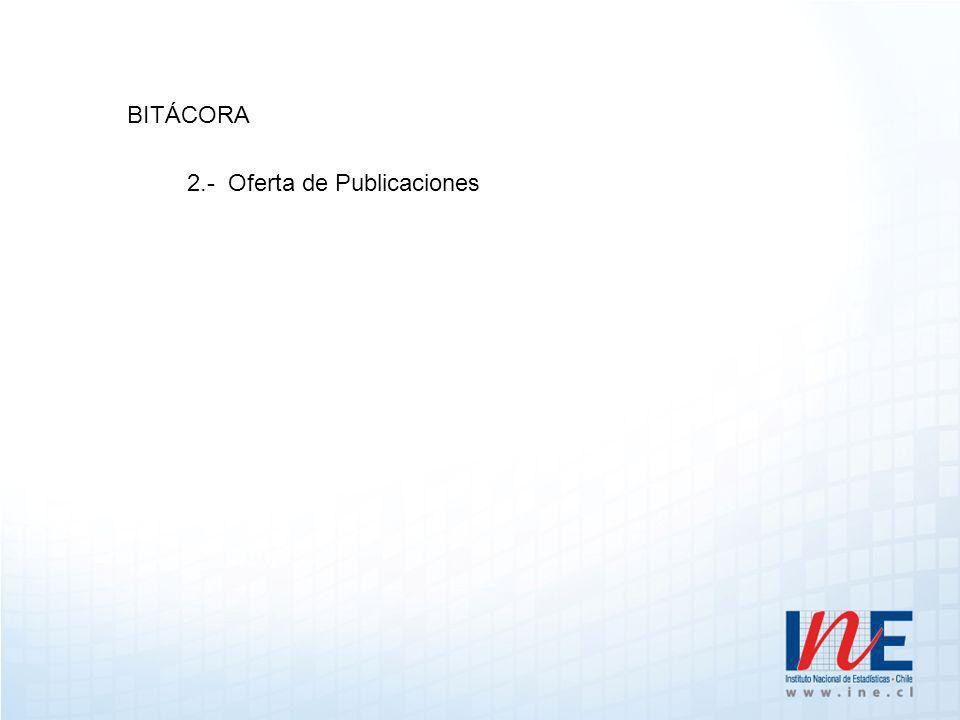 BITÁCORA 2.- Oferta de Publicaciones