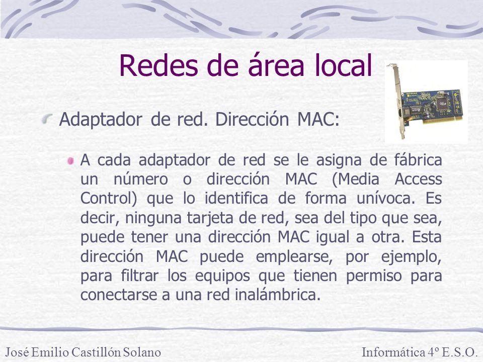 Redes de área local Adaptador de red.