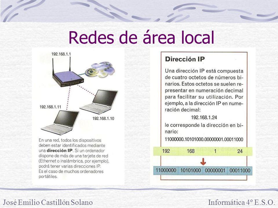 Redes de área local Informática 4º E.S.O.José Emilio Castillón Solano