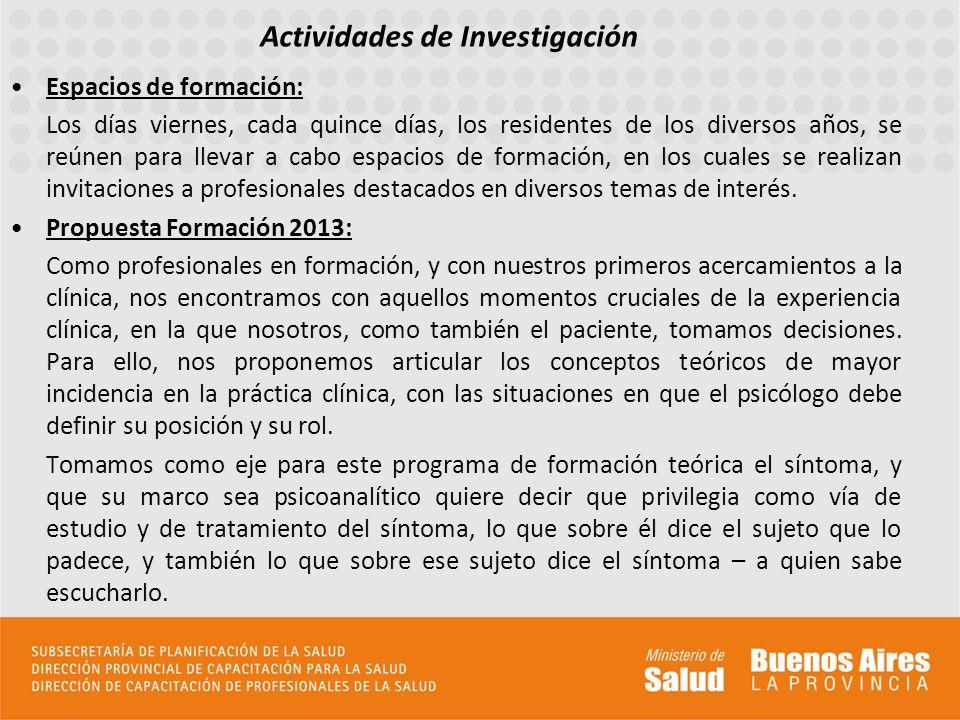 Direcciones de Sedes de residencia 1- CAPS Presidente Ibañez, Morón Sur.