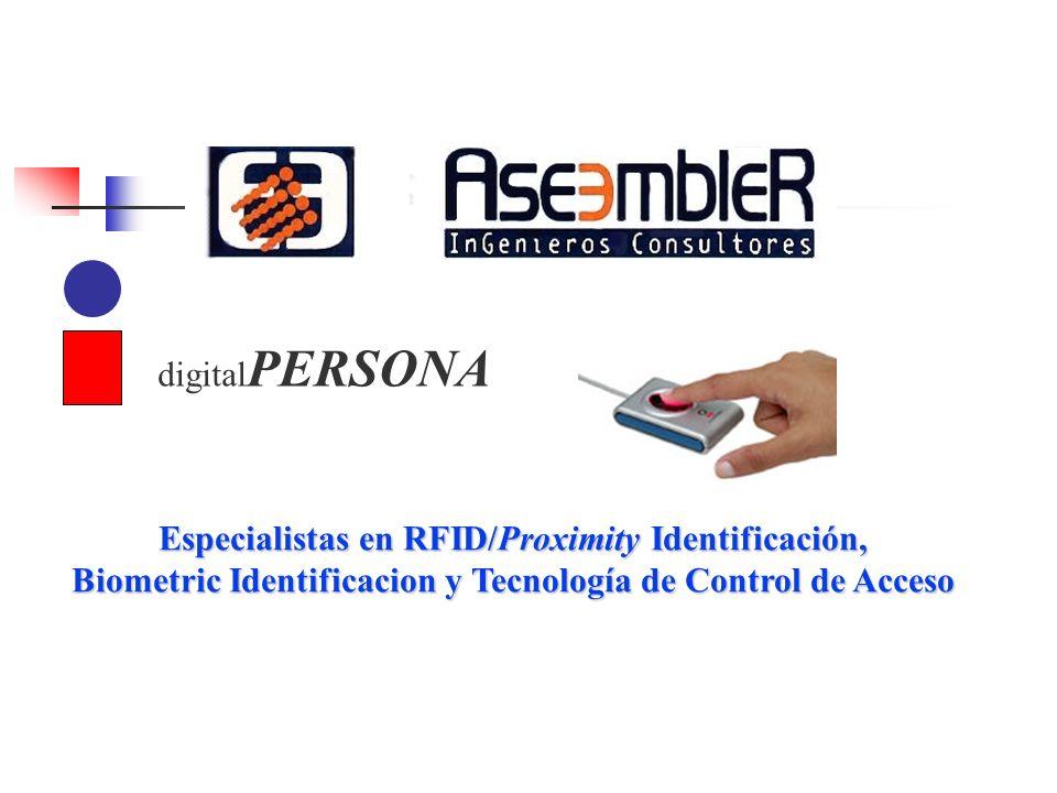 Especialistas en RFID/Proximity Identificación, Biometric Identificacion y Tecnología de Control de Acceso digital PERSONA