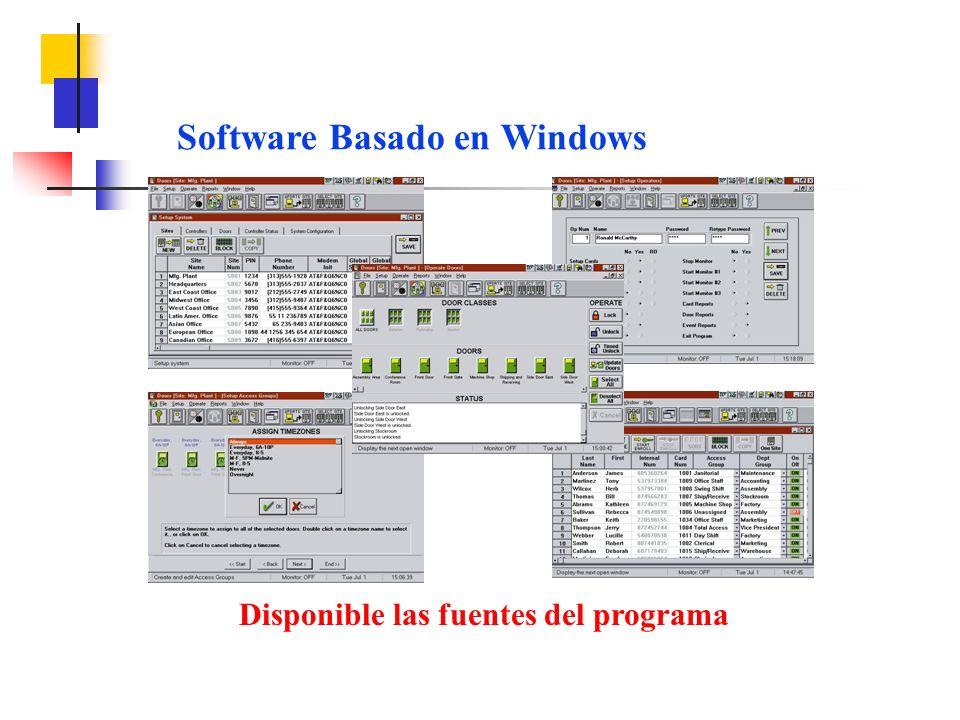 Software Basado en Windows Disponible las fuentes del programa