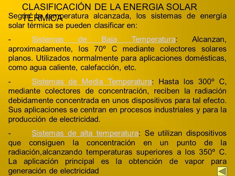 La Energía Solar Térmica consiste en convertir la radiación solar en calor y comunicarlo a un fluido, como aire o más comúnmente agua, mediante un pro