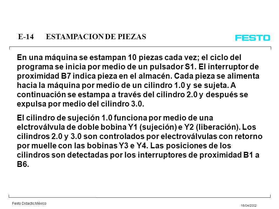 Festo Didactic México 15/04/2002 E-12ELEVADOR DE PAQUETES