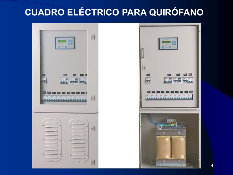 5 EQUIPOS DE BATERÍAS Para mantener una autonomía de 2h en las lámparas de quirófano.
